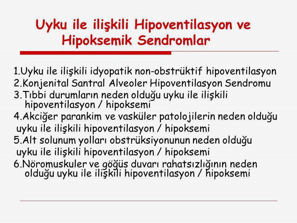 Uyku ile ilişkili Hipoventilasyon ve Hipoksemik Sendromlar