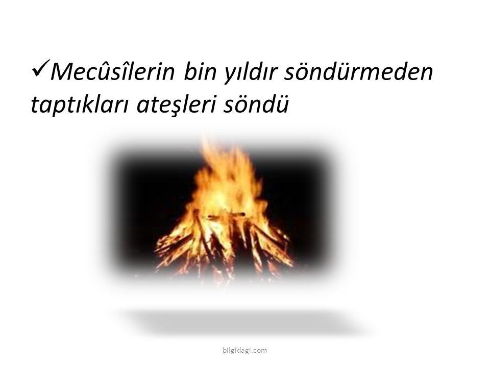 Mecûsîlerin bin yıldır söndürmeden taptıkları ateşleri söndü