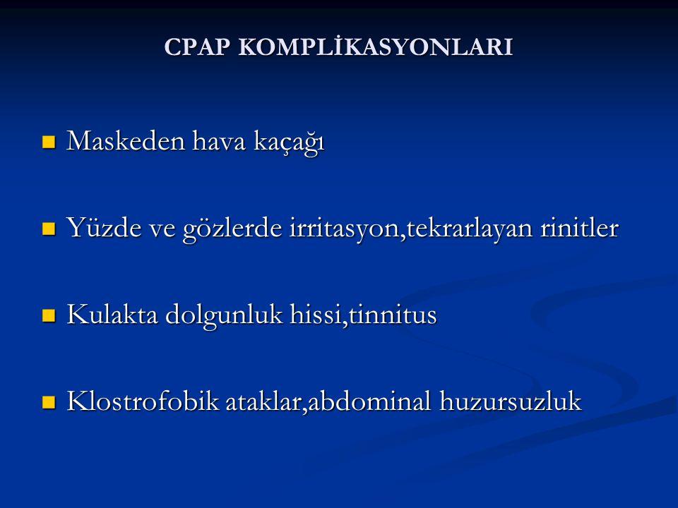 CPAP KOMPLİKASYONLARI