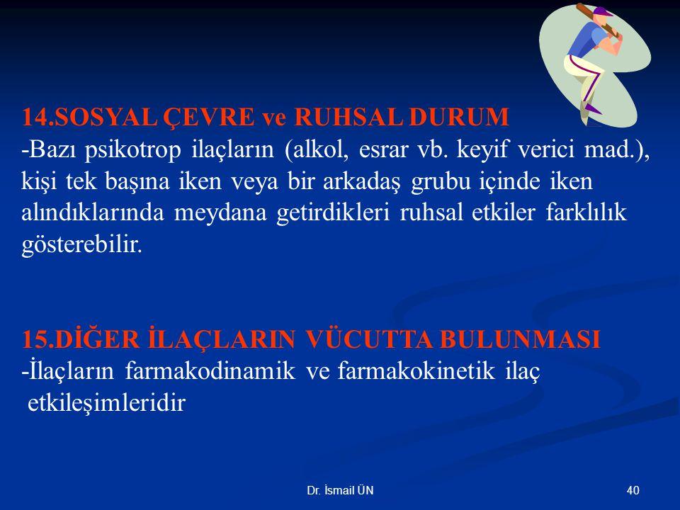 14.SOSYAL ÇEVRE ve RUHSAL DURUM