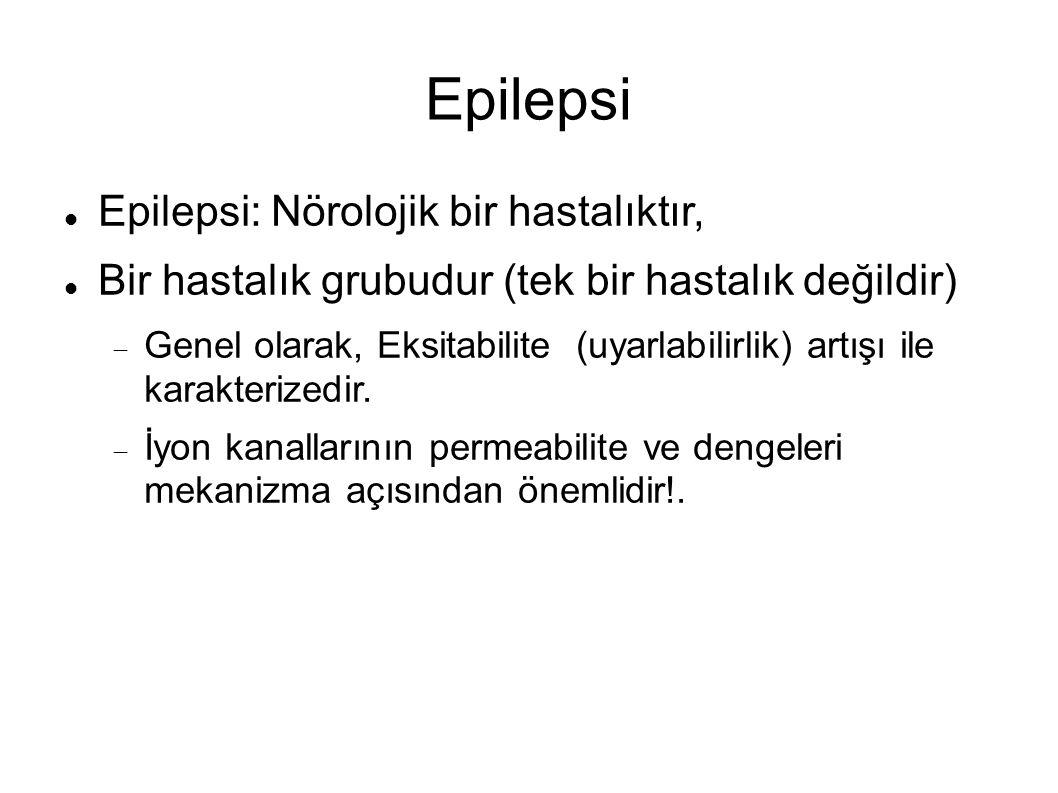 Epilepsi Epilepsi: Nörolojik bir hastalıktır,