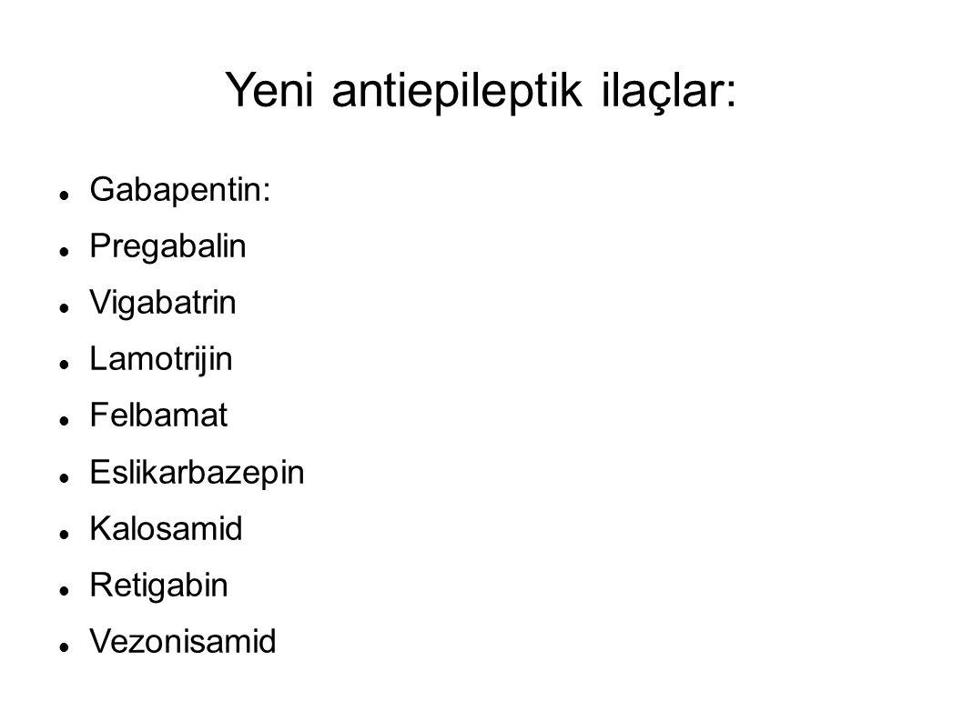Yeni antiepileptik ilaçlar: