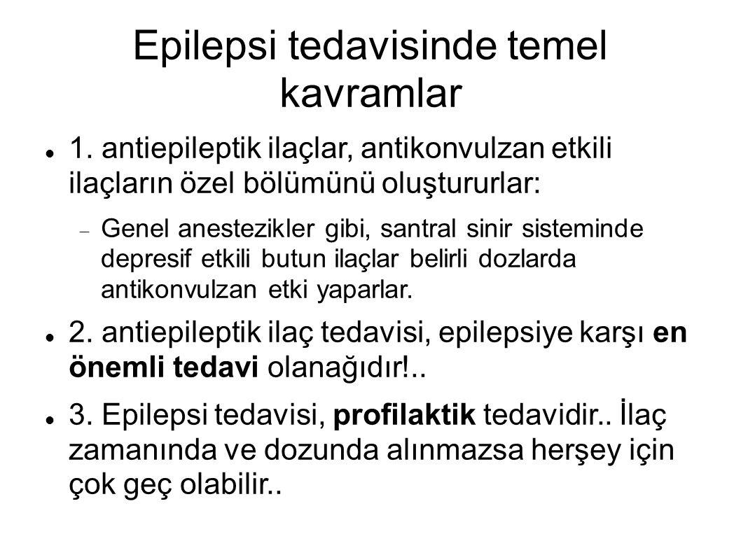Epilepsi tedavisinde temel kavramlar