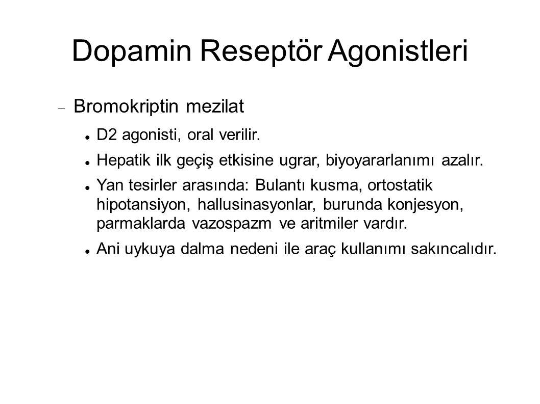 Dopamin Reseptör Agonistleri
