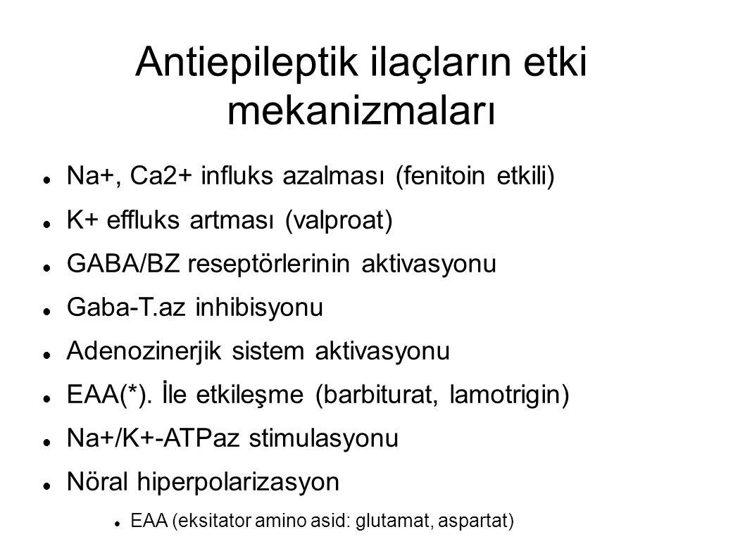 Antiepileptik ilaçların etki mekanizmaları