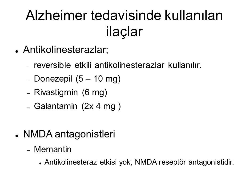 Alzheimer tedavisinde kullanılan ilaçlar