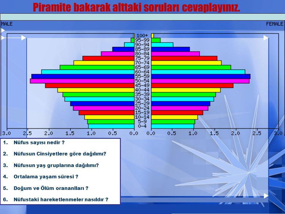 Piramite bakarak alttaki soruları cevaplayınız.