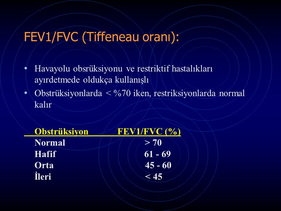 FEV1/FVC (Tiffeneau oranı):
