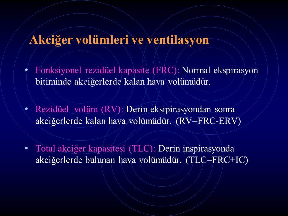 Akciğer volümleri ve ventilasyon