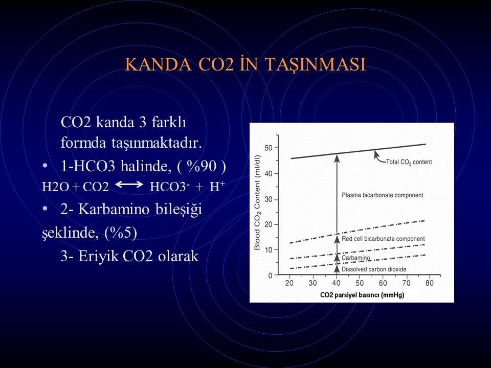 CO2 kanda 3 farklı formda taşınmaktadır.