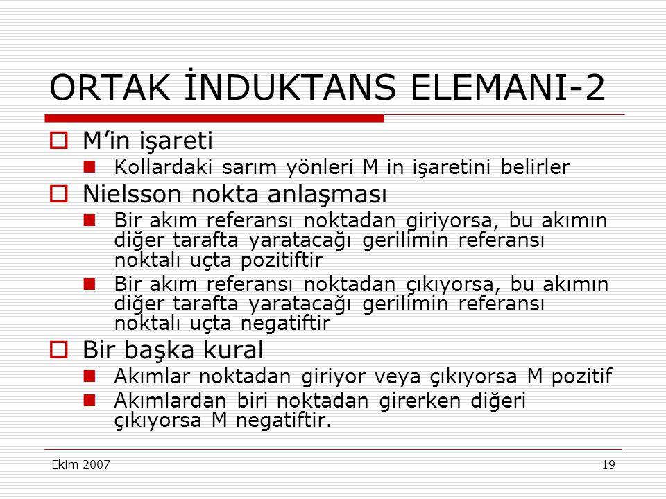 ORTAK İNDUKTANS ELEMANI-2