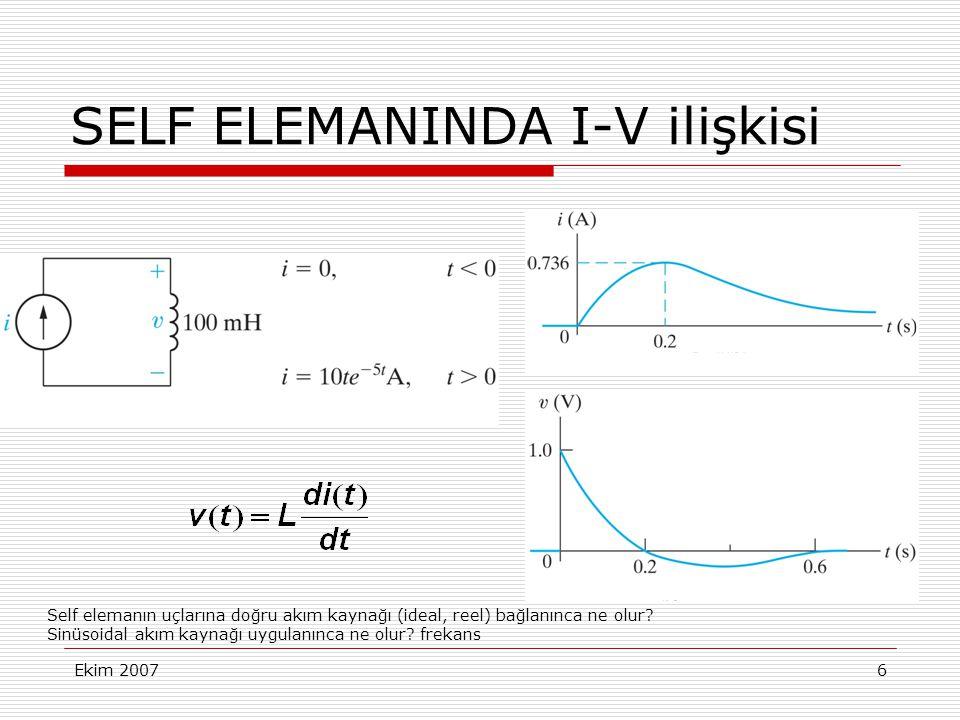 SELF ELEMANINDA I-V ilişkisi
