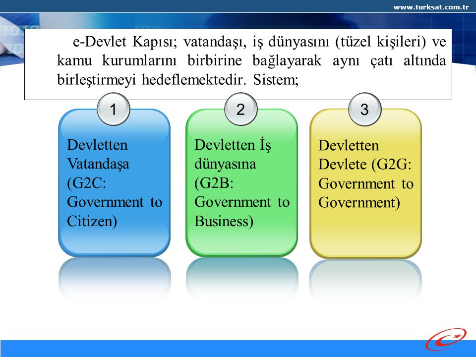 Devletten Vatandaşa (G2C: Government to Citizen) 2