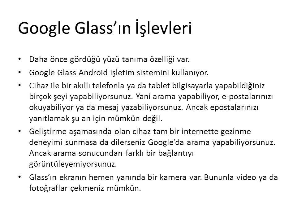 Google Glass'ın İşlevleri