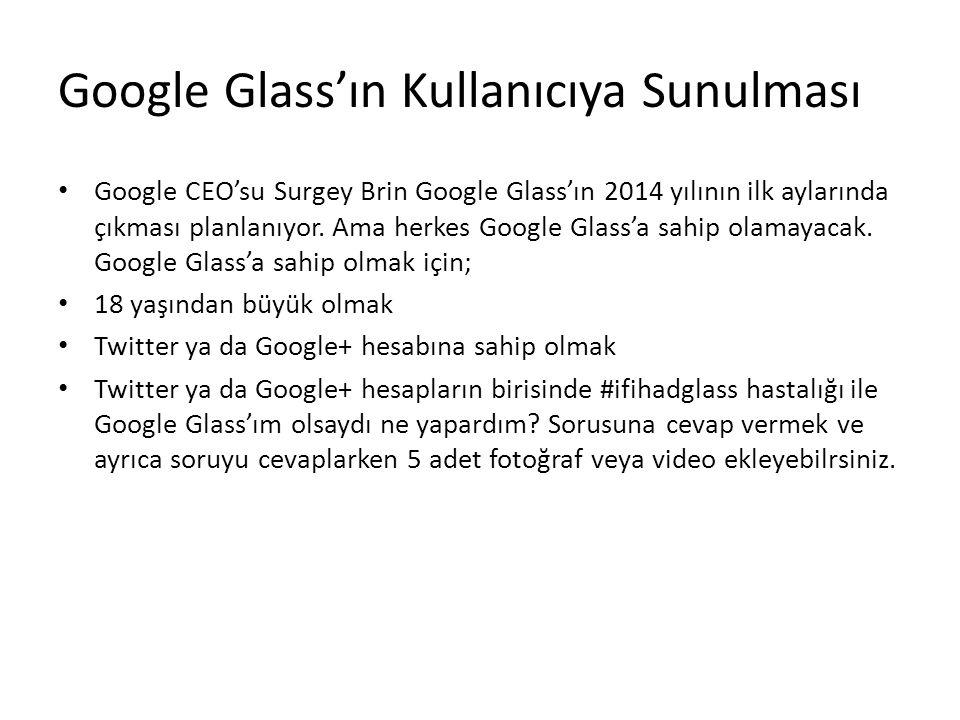 Google Glass'ın Kullanıcıya Sunulması