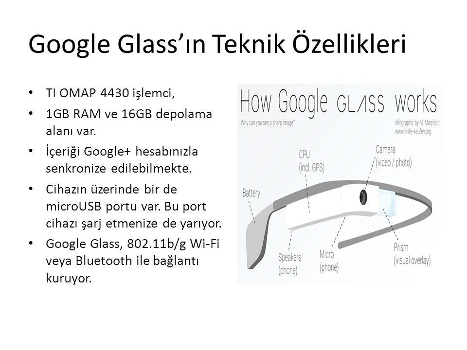 Google Glass'ın Teknik Özellikleri