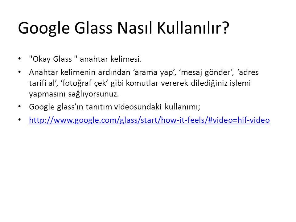 Google Glass Nasıl Kullanılır