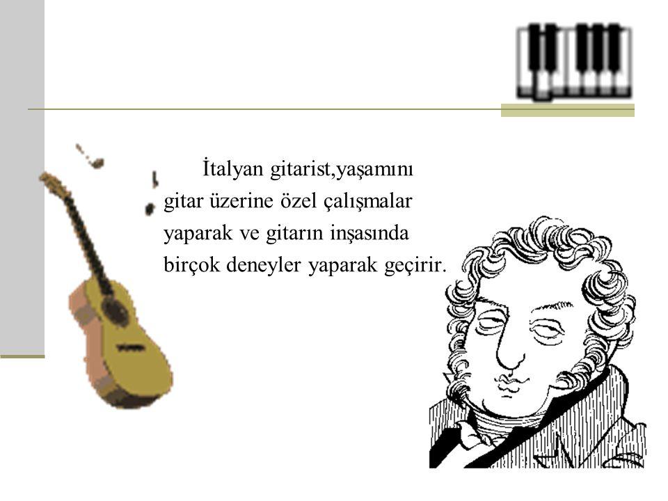 İtalyan gitarist,yaşamını