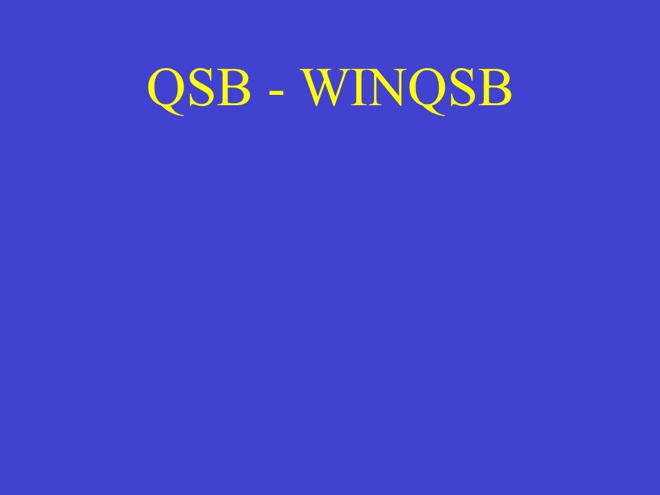 QSB - WINQSB