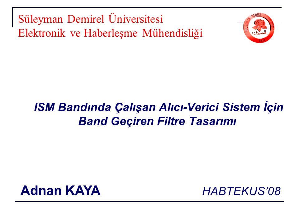 Süleyman Demirel Üniversitesi Elektronik ve Haberleşme Mühendisliği