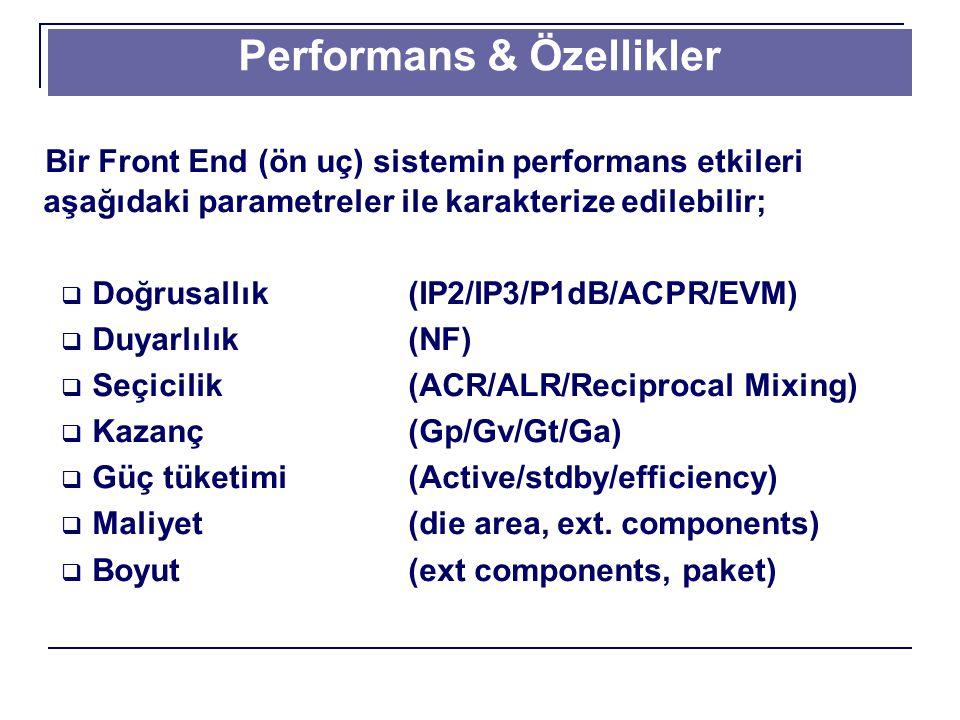Performans & Özellikler