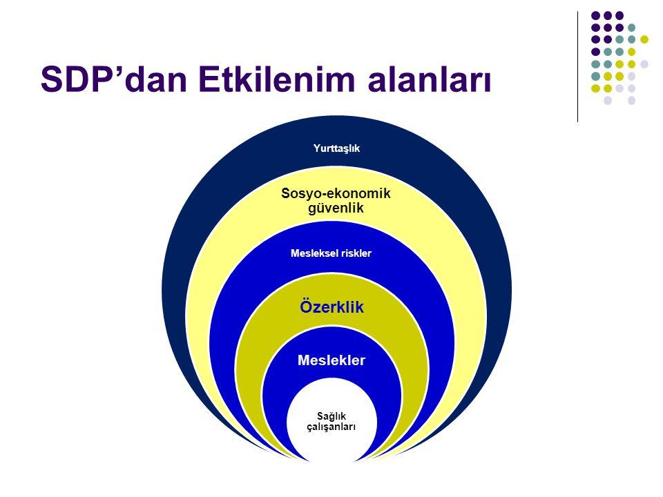 SDP'dan Etkilenim alanları