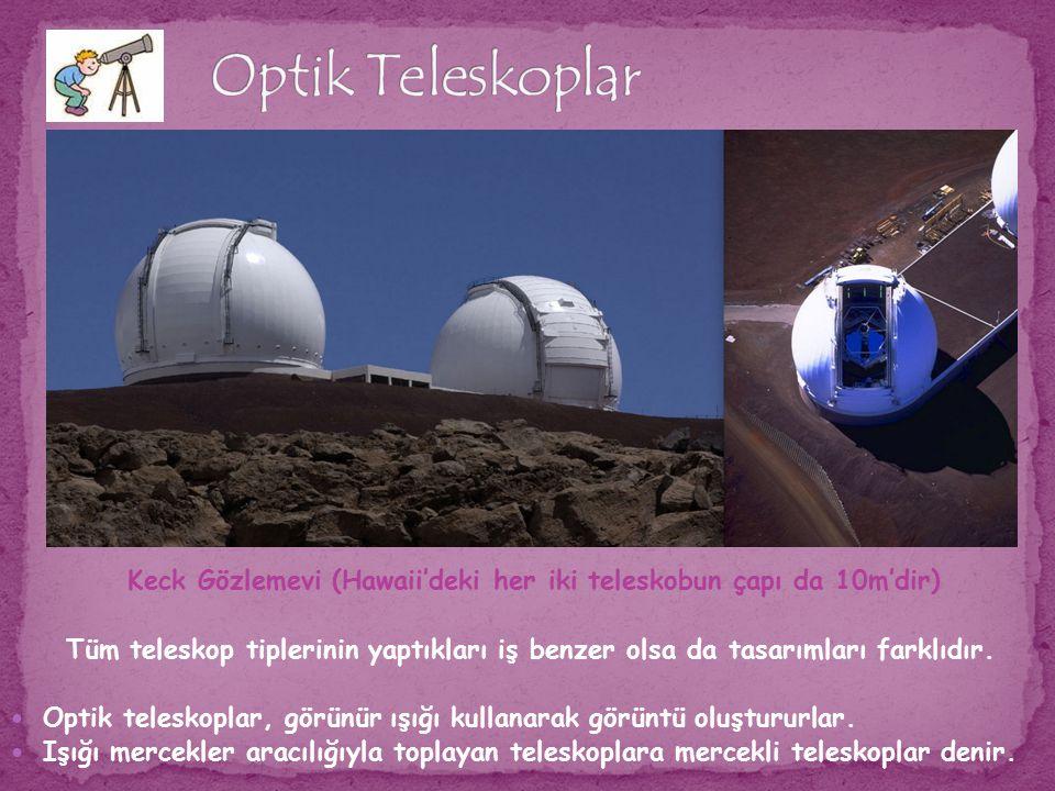 Optik Teleskoplar Keck Gözlemevi (Hawaii'deki her iki teleskobun çapı da 10m'dir)