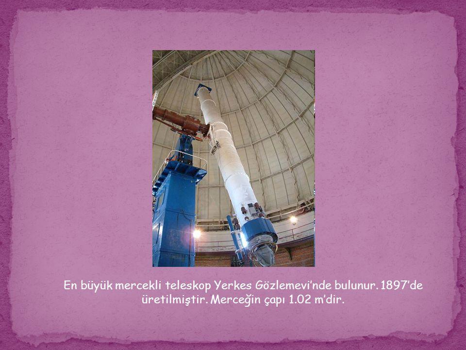 En büyük mercekli teleskop Yerkes Gözlemevi'nde bulunur