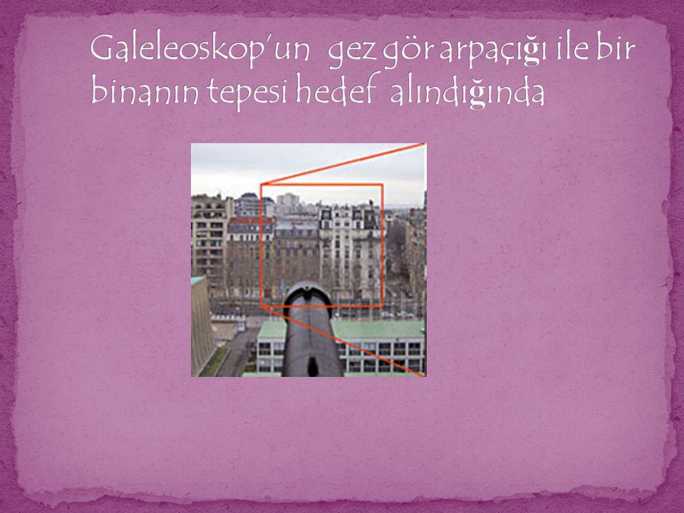 Galeleoskop'un gez gör arpaçığı ile bir binanın tepesi hedef alındığında