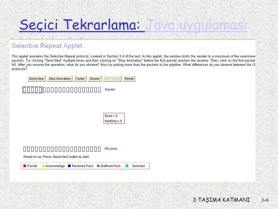 Seçici Tekrarlama: Java uygulaması