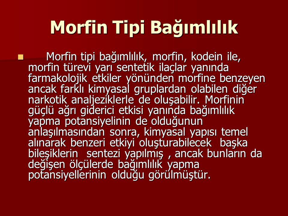 Morfin Tipi Bağımlılık