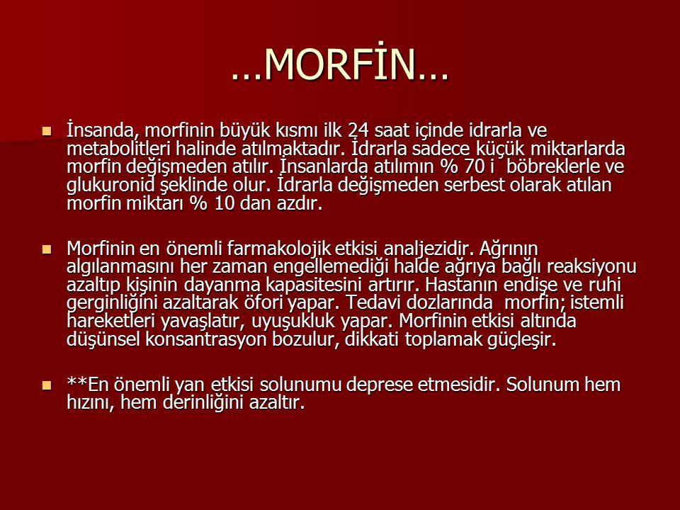 …MORFİN…