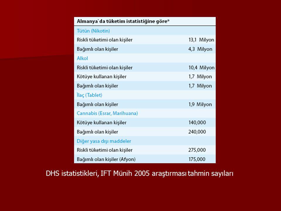DHS istatistikleri, IFT Münih 2005 araştırması tahmin sayıları