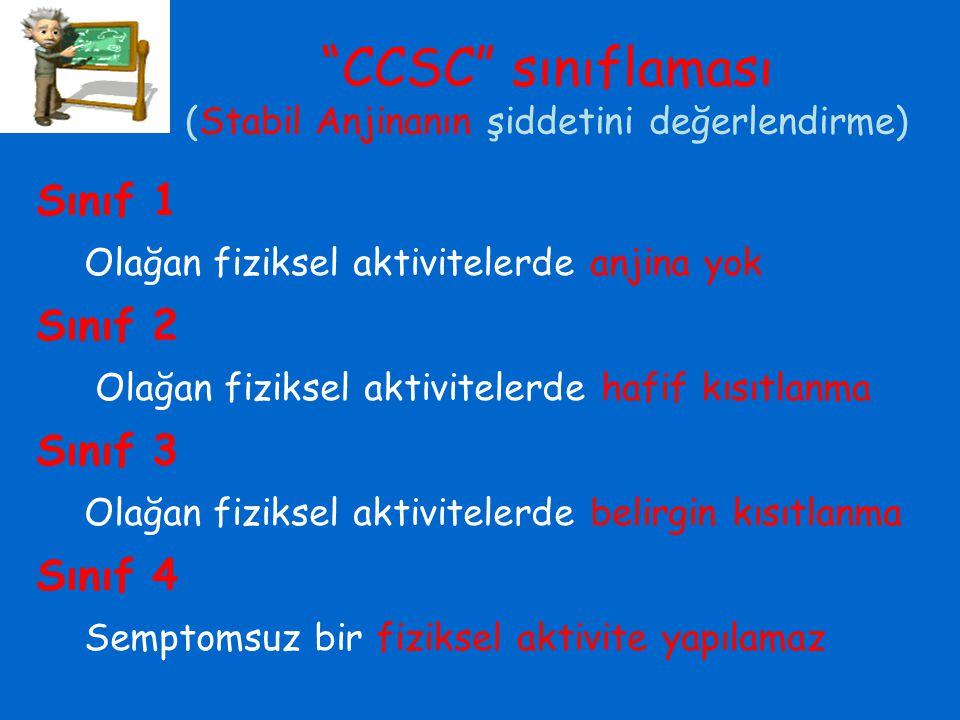 CCSC sınıflaması (Stabil Anjinanın şiddetini değerlendirme)