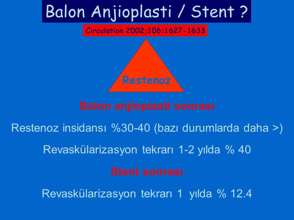 Balon Anjioplasti / Stent