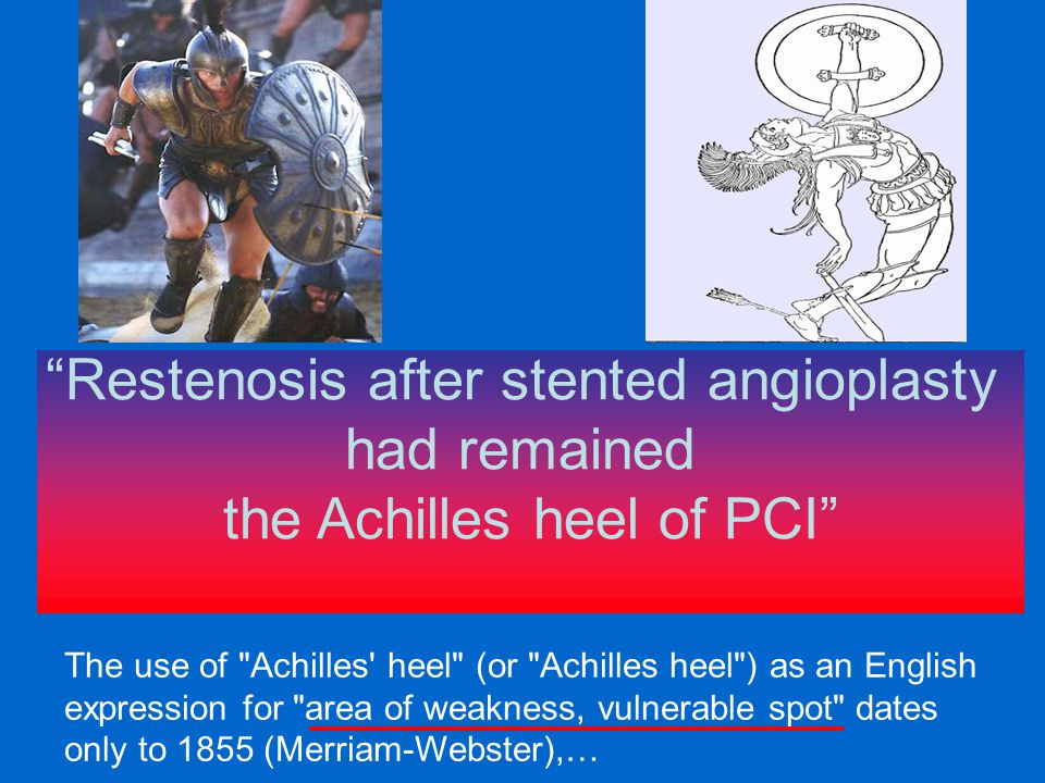 Restenosis after stented angioplasty had remained