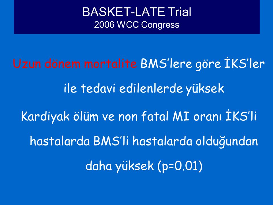 BASKET-LATE Trial 2006 WCC Congress