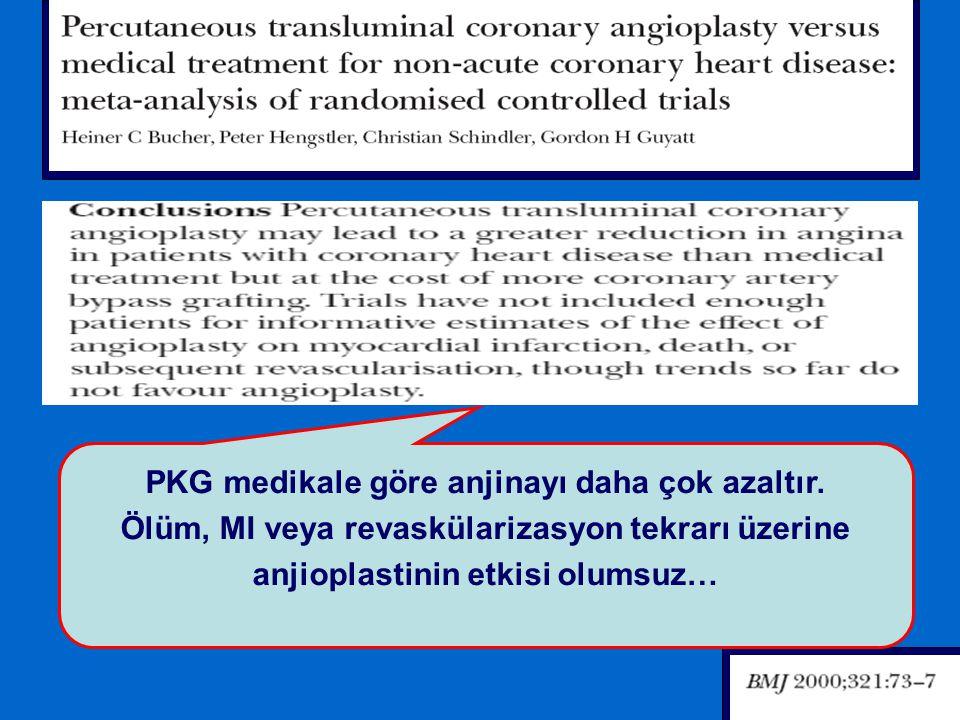 PKG medikale göre anjinayı daha çok azaltır.