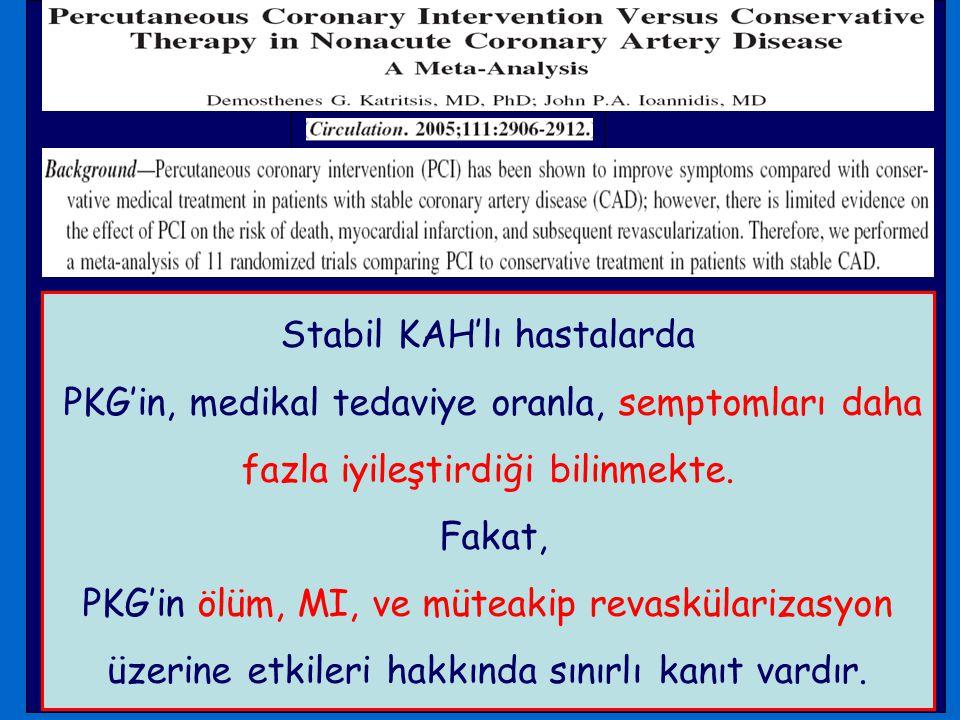 Stabil KAH'lı hastalarda