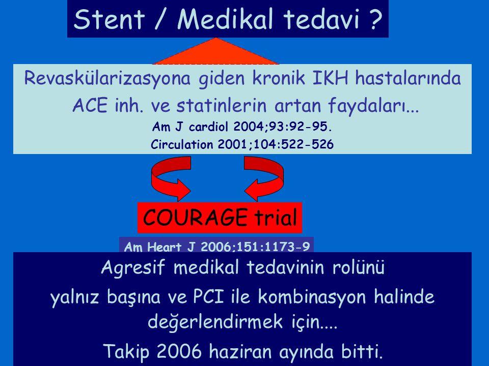 Stent / Medikal tedavi COURAGE trial