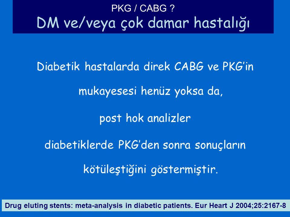 PKG / CABG DM ve/veya çok damar hastalığı