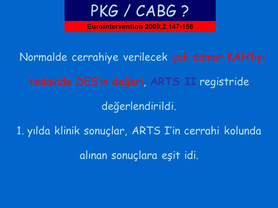 PKG / CABG Eurointervention 2005;2:147-156.