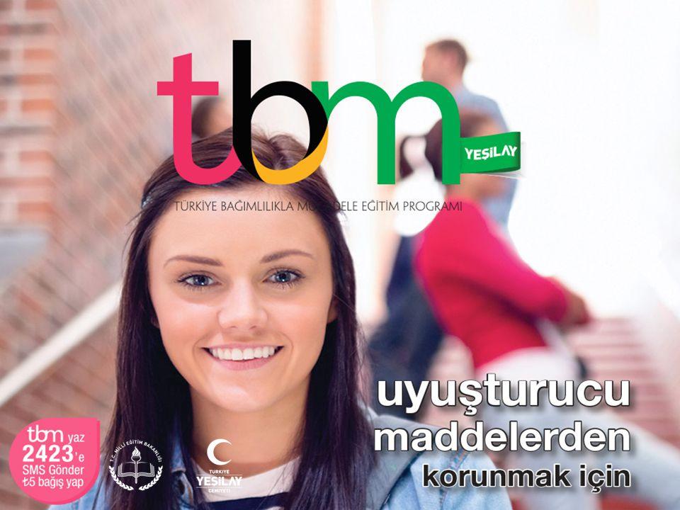 Bu sunuda TBM için hazırlanmış olan «Uyuşturucu Maddelerden Korunmak İçin» adlı (Metin: Uğur Evcin, 2014, İstanbul: Yeşilay Yayını) broşürden yararlanılmıştır.