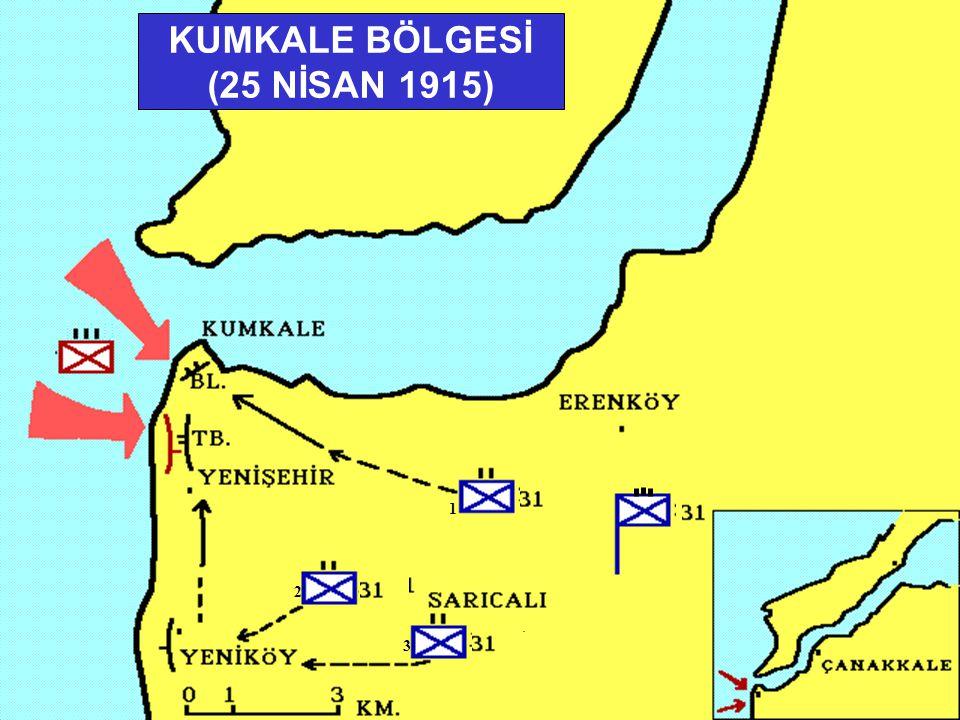 KUMKALE BÖLGESİ (25 NİSAN 1915)