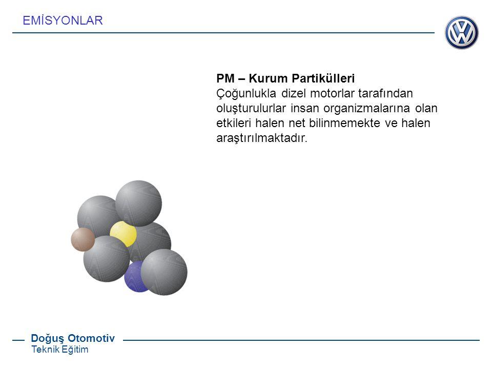 EMİSYONLAR PM – Kurum Partikülleri.