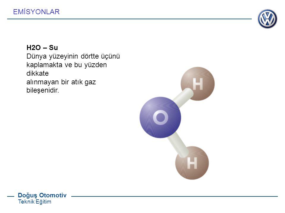 EMİSYONLAR H2O – Su. Dünya yüzeyinin dörtte üçünü kaplamakta ve bu yüzden dikkate.