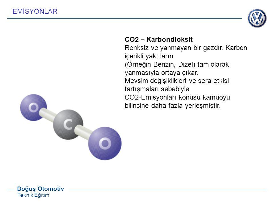 EMİSYONLAR CO2 – Karbondioksit. Renksiz ve yanmayan bir gazdır. Karbon içerikli yakıtların.