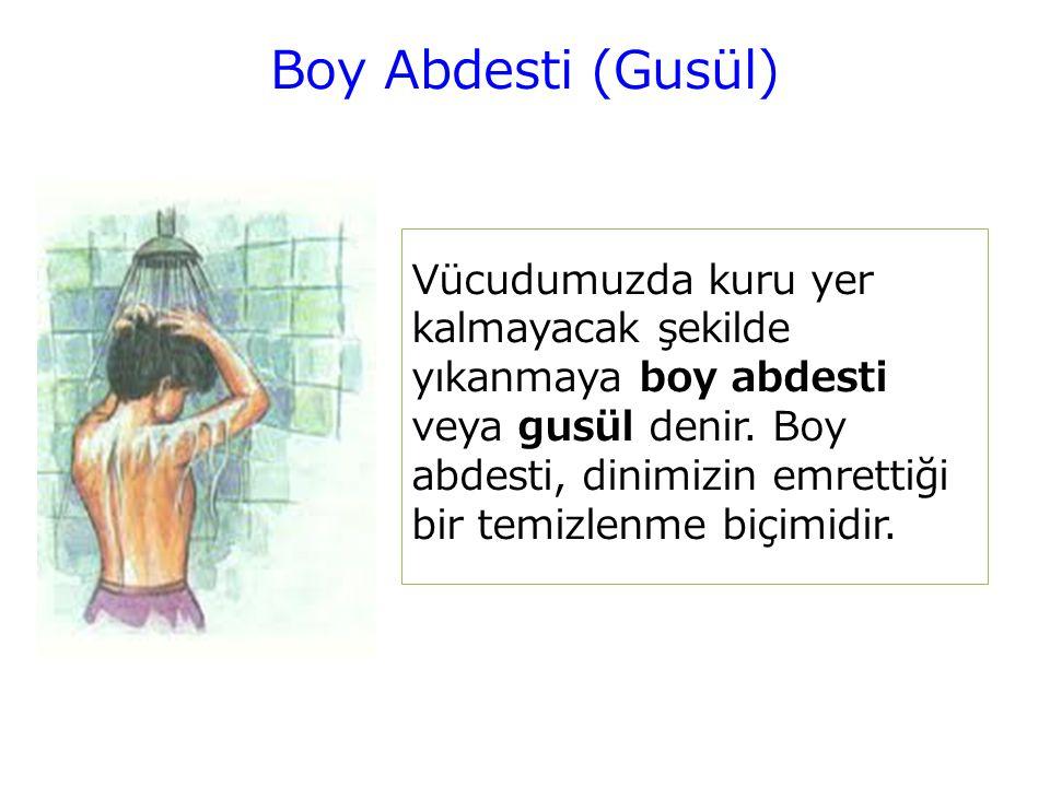 Boy Abdesti (Gusül)