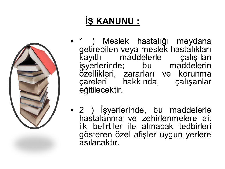İŞ KANUNU :