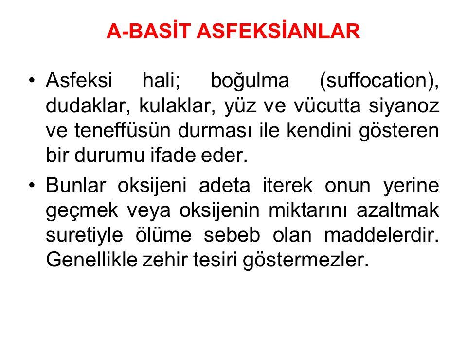 A-BASİT ASFEKSİANLAR